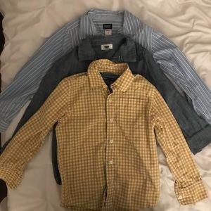 3 BOYS DRESS SHIRTS-SIZES 6/7